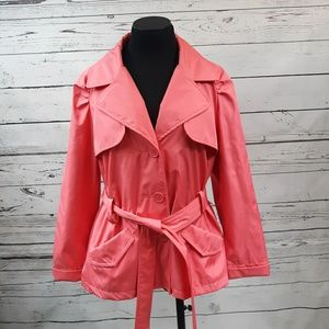 Christopher & Banks pink raincoat, size XL